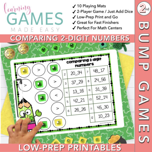 Second Grade BUMP Math Game - March - Comparing 2-Digit Numbers's featured image