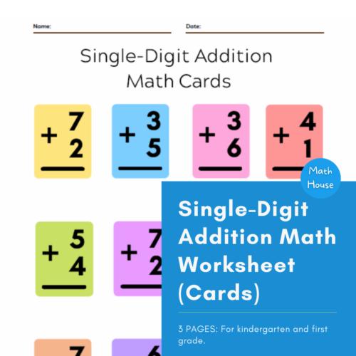 Single-Digit Addition Math (Cards)