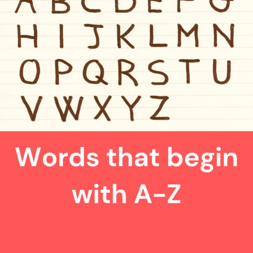 Words that begin with A-Z's featured image