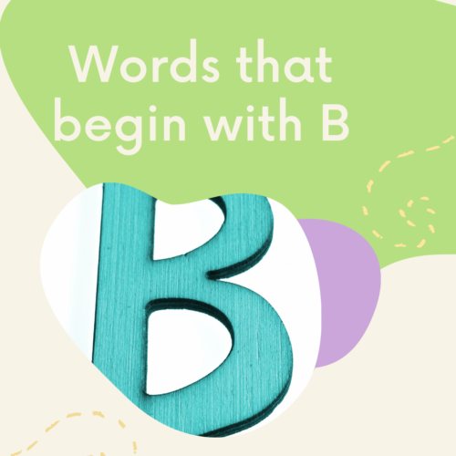 Words that begin with B's featured image