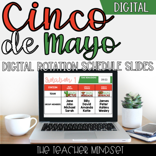 Digital Rotation Schedule Slides   Cinco de Mayo Theme   Slides & PowerPoint
