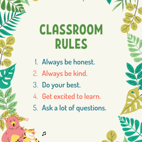 Adventure Classroom Rules Poster