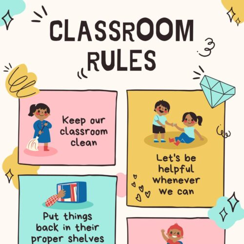 Hand-drawn Classroom Rules Poster