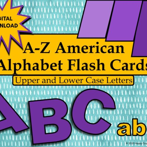 American Alphabet Flashcards Upper and Lower Case Letters Digital Download's featured image