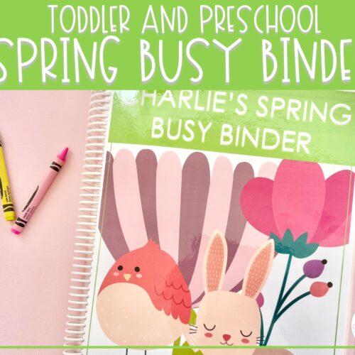 Spring Busy Binder | Preschool Learning Activities