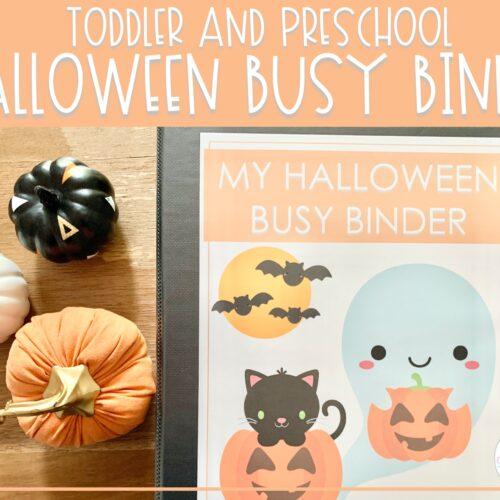 Halloween Busy Binder | Preschool Learning Activities
