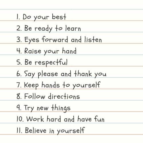 Notebook Handwritten Classroom Rules Poster