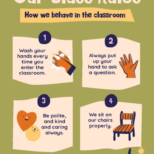Playful Nature Classroom Rules Poster