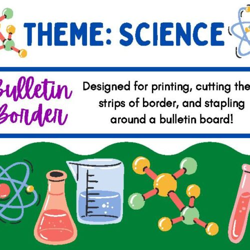 Bulletin Board Decor Border Science Theme