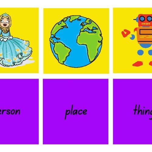 Nouns Matching Flashcards