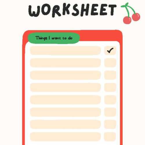 Bucket List Worksheet
