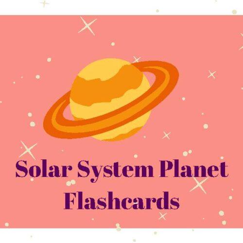 Solar System Planet Flashcards