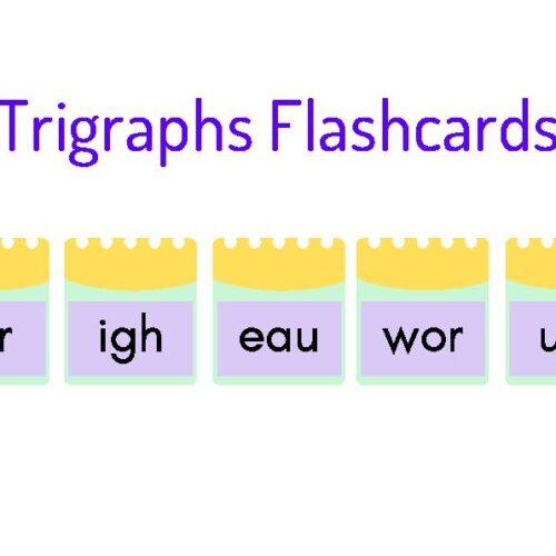Trigraphs Flashcards