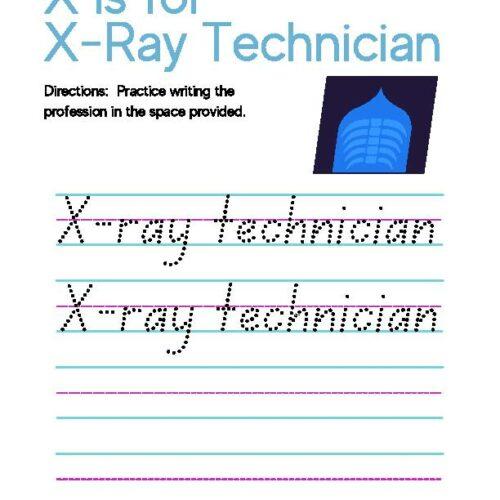 Letter X Alphabet Handwriting X-Ray Technician