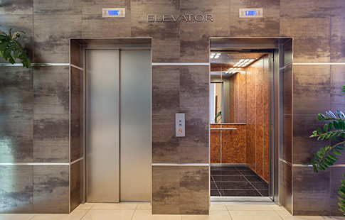 elevators in luxury environment