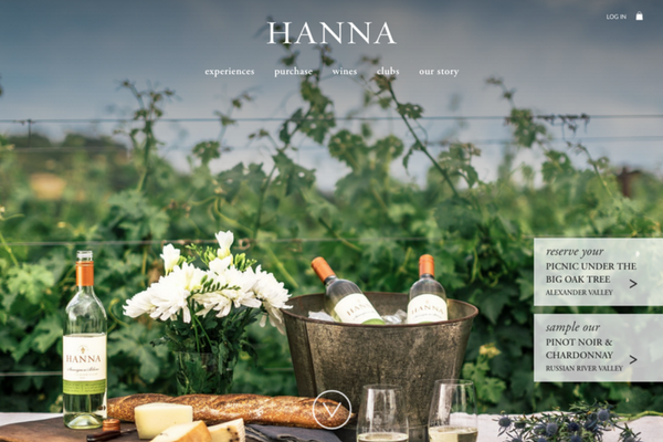 Pembroke Studios Hanna Winery Website