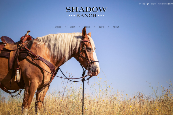Pembroke Studios Shadow Ranch Winery Website