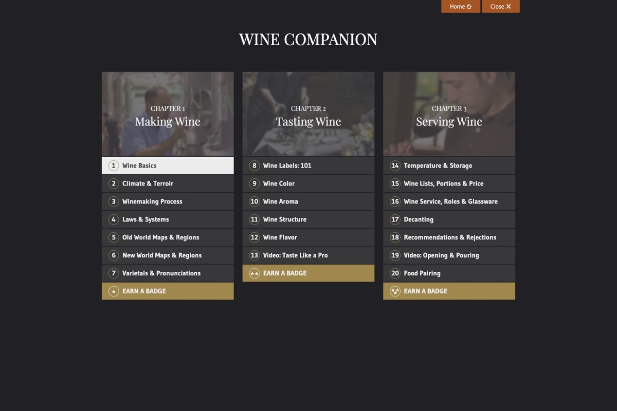 Smwe Wine Companion 2 Menu Daylight
