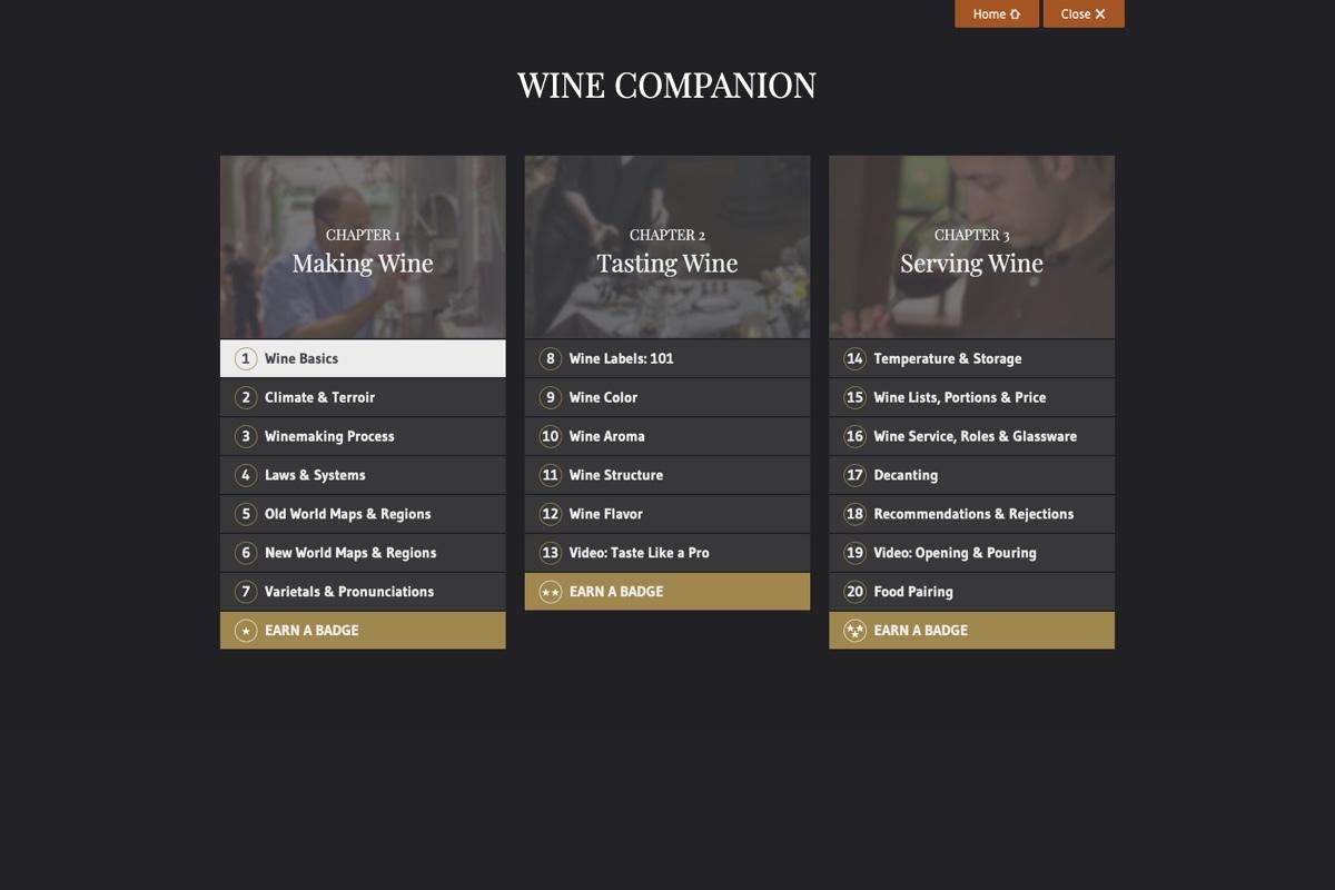 Smwe Wine Companion 2 Menu Daylight
