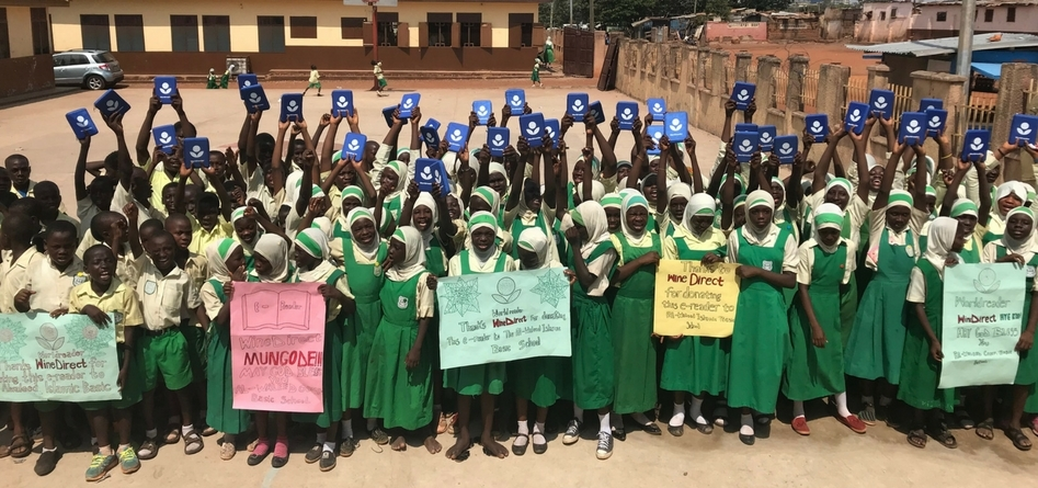 Worldreader Wine Direct Al Waleed School Ghana