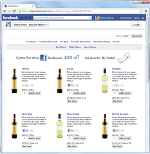 Facebook Ecommerce App