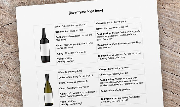 Wine Club Mailer Template