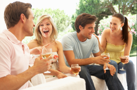 People Drinking Wine Small