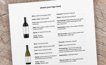 Wine Club Mailer Template