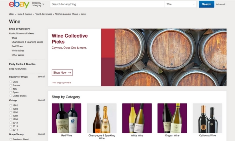 Amazon Wine is Gone: Hello eBay