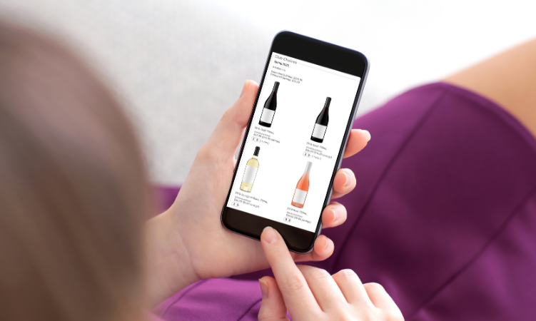 Wine Shopping Online Mobile 750X450