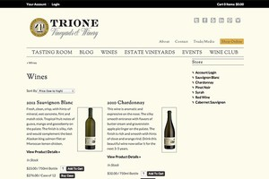 Vin65 Designers Wine And The Web Trione Winery