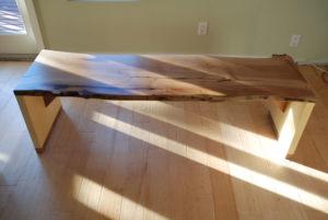 Live edge arbutus/yellow cedar coffee table