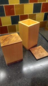 yellow cedar/arbutus boxes