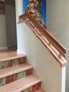 arbutus/maple banister