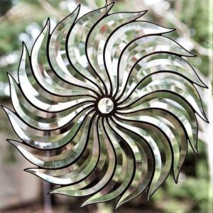 Bevel Twirl Stained glass - Jan's Glass by the Sea