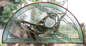 Bevel Whale arch panel - Jan's Glass by the Sea