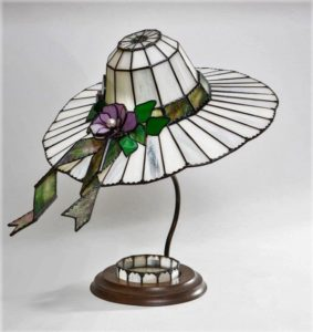 Ladies Hat Lamp Jan's Glass by the Sea