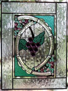 Purple Grape Stained glass Window Jan's Glass by the Sea