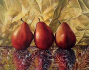 Decorated Pears  16 x 20""