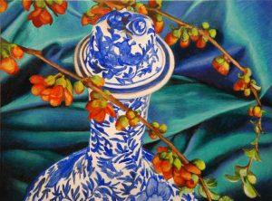 "Oriental Vase  9 x 12"""