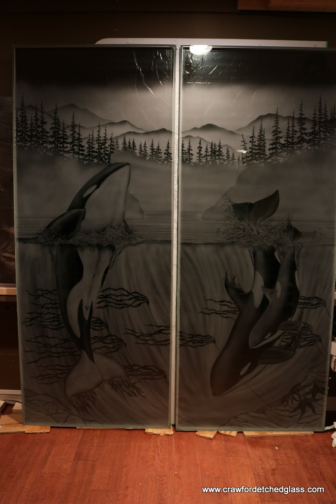 Crawford Studios Sandblasted Designs on Glass