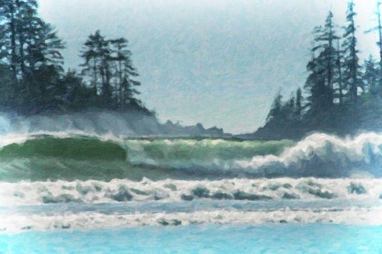 The soothing sight & sound of the surf on the west coast of Vancouver Island, BC