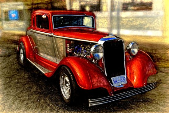 A rare 1933 Dodge vintage auto, painstakingly restored to perfection