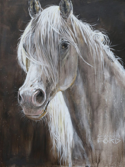 Shannon Ford, Mystique Gaze, 48 X 36 D, Acrylic on Canvas with Diamond Dust, CAGG06046SF 1U4A5658 lr copy