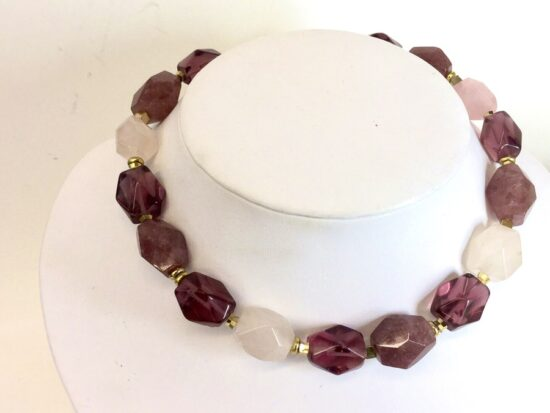 BellaStyle Jewelry-Cindy Monahan purple chunky necklace