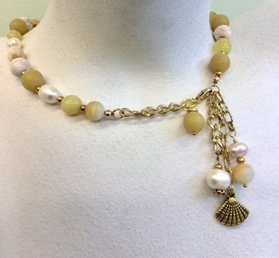 BellaStyle Jewelry-Cindy Monahan Yellow Jade Necklace front view
