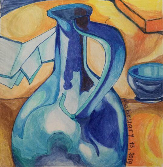 LANUSSE.Blue vase