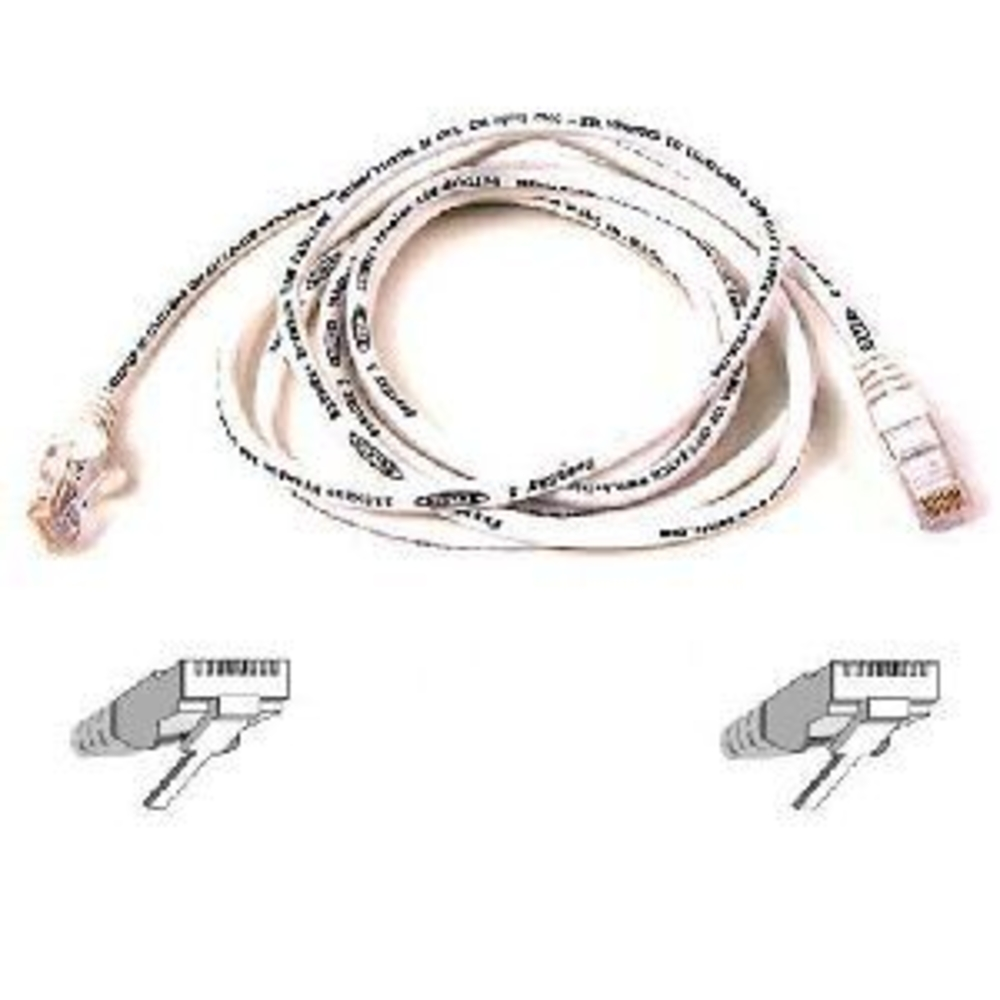 RJ-45 - 6 ft Belkin Patch cable M M - RJ-45 white Manufacturer Part Number A3L791-06-WHT-S - snagless booted UTP - CAT 5e