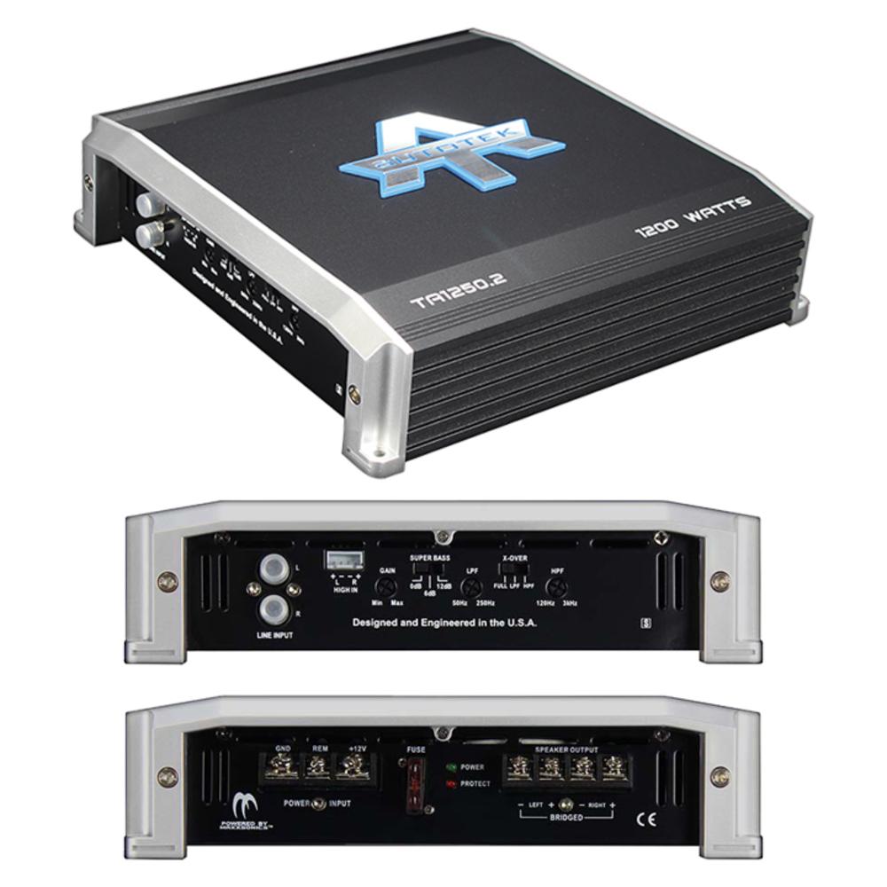 R 1,200 Watts TA 1250.2 TA Series 2-Channel Class AB Amp Autotek