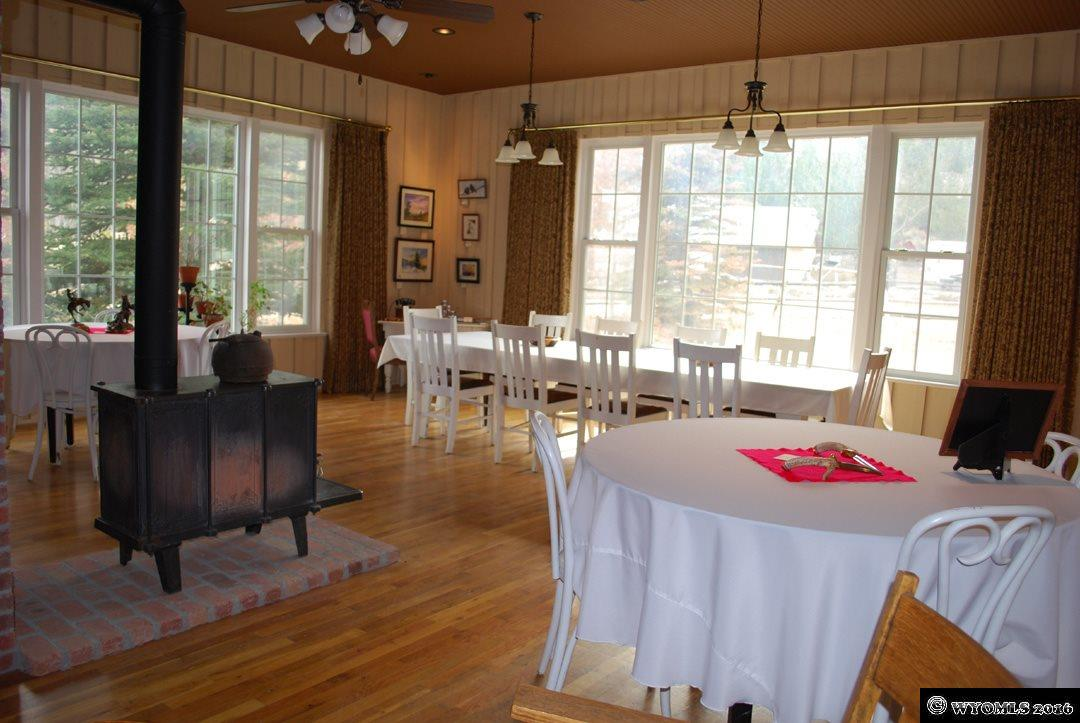 The dining room and art gallery is also heated by